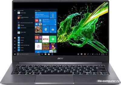 Ноутбук Acer Swift SF314-57G-70NQ i7-1065G7/MX350 2Gb DDR5/1.19 кг/Iron (NX.HUKER.001) от интернет-магазина Lite-Computer.ru