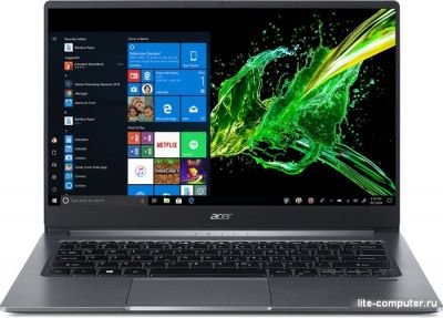 Ноутбук Acer Swift SF314-57G-70NQ i7-1065G7/MX350 2Gb DDR5/1.19 кг/Iron (NX.HUKER.001) фото 1